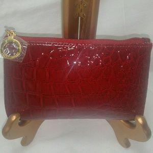 Burgandy cosmetic bag